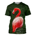 3D Printed Beautiful Flamingo Hoodie T-shirt DT170120