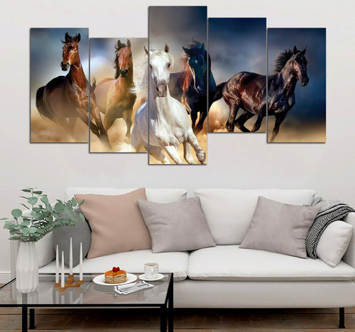 5-piece Horses printed Canvas Wall Art DT290608