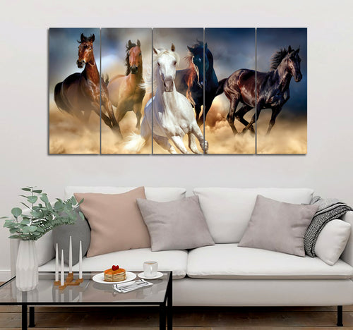 5 piece Horses printed Canvas Wall Art DT2906081
