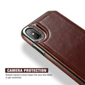 Retro PU Leather Card Slot Case For iPhone X/ XS/ XS Max/ XR