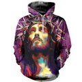 3D Printed Jesus - King Of King Hoodie T-shirt DT03041901