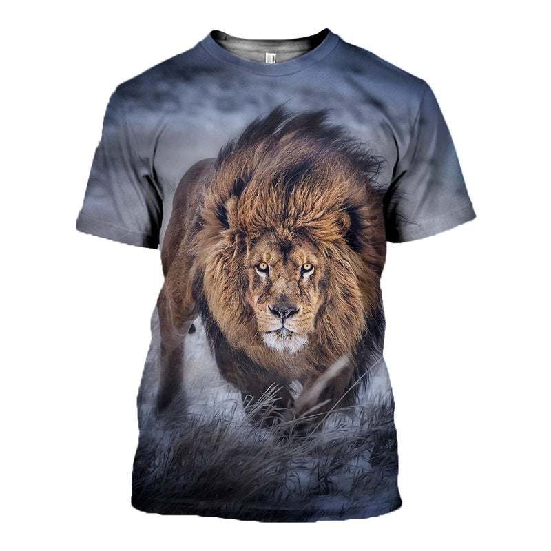 3D Printed Lion Hoodie T shirt 2018 DT111001