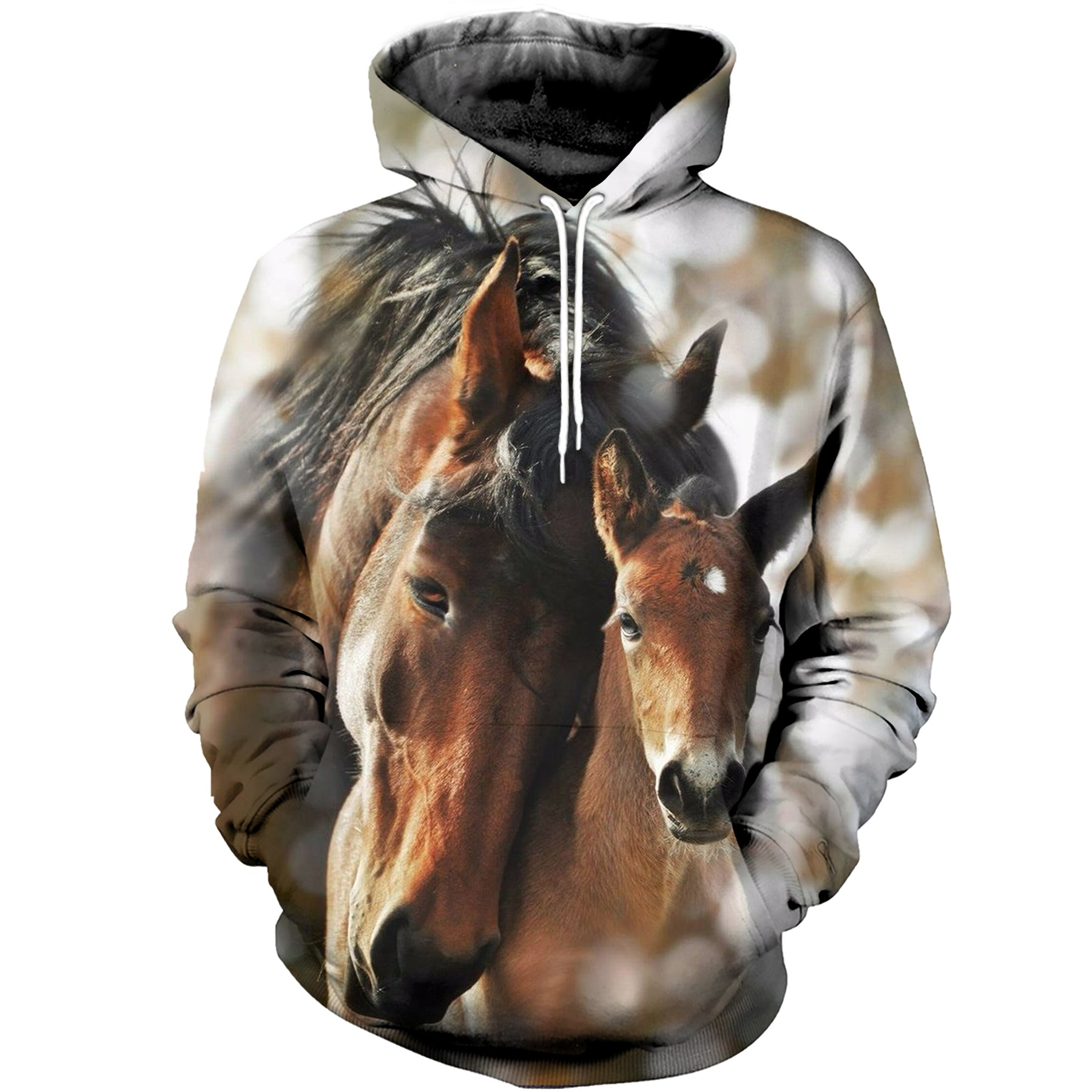 3d Printed Mom And Baby Horse Hoodie T Shirt Kingtees Store