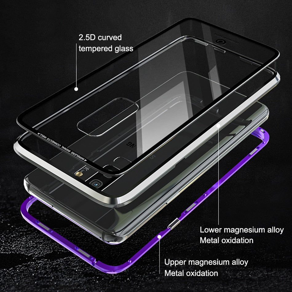 sneakers for cheap 2d091 eff8c Magnetic Adsorption Flip Phone Case For Samsung Galaxy S9/ S9 Plus/ Note 8/  Note 9
