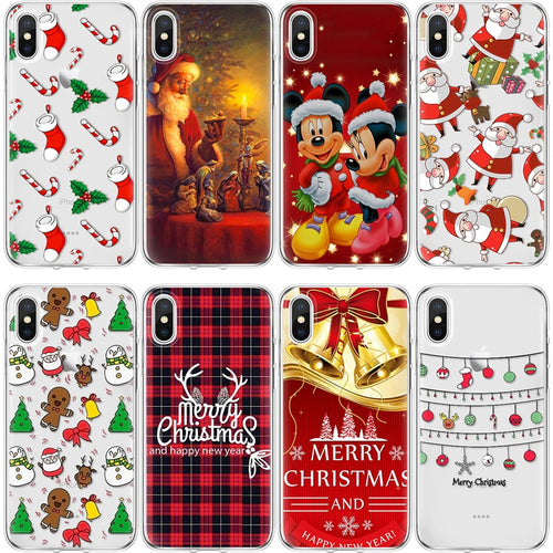 TPU Christmas Case For iPhone X
