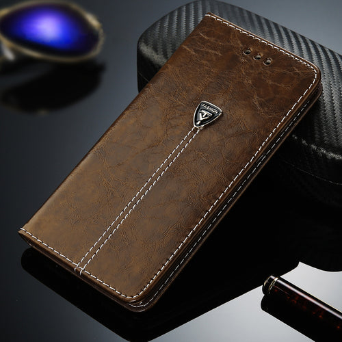 Leather Wallet Card Slots Cases Cover For iPhone