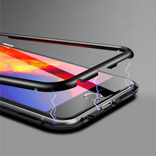 Plastic Magnetic Side Case For iPhone X/ XS/ XS MAX