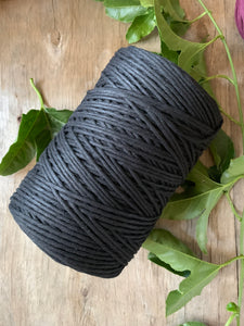 3mm Cotton Macramé String - 1kg - Black