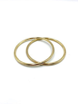 Metallic Hoops - GOLD - click to choose size. $4-$8