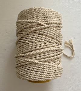 5mm 3-ply Rope - 1kg - Natural/raw
