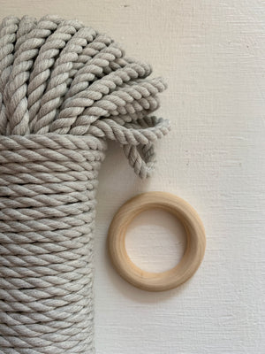 5mm 3-ply Rope Bundle - Sheer Grey