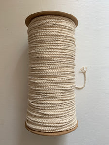 5mm 3-ply rope - Approx. 300m - Natural/raw
