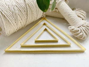 DIY Metallic wall frames - Triangle - Brass - click to choose size. $4-$10