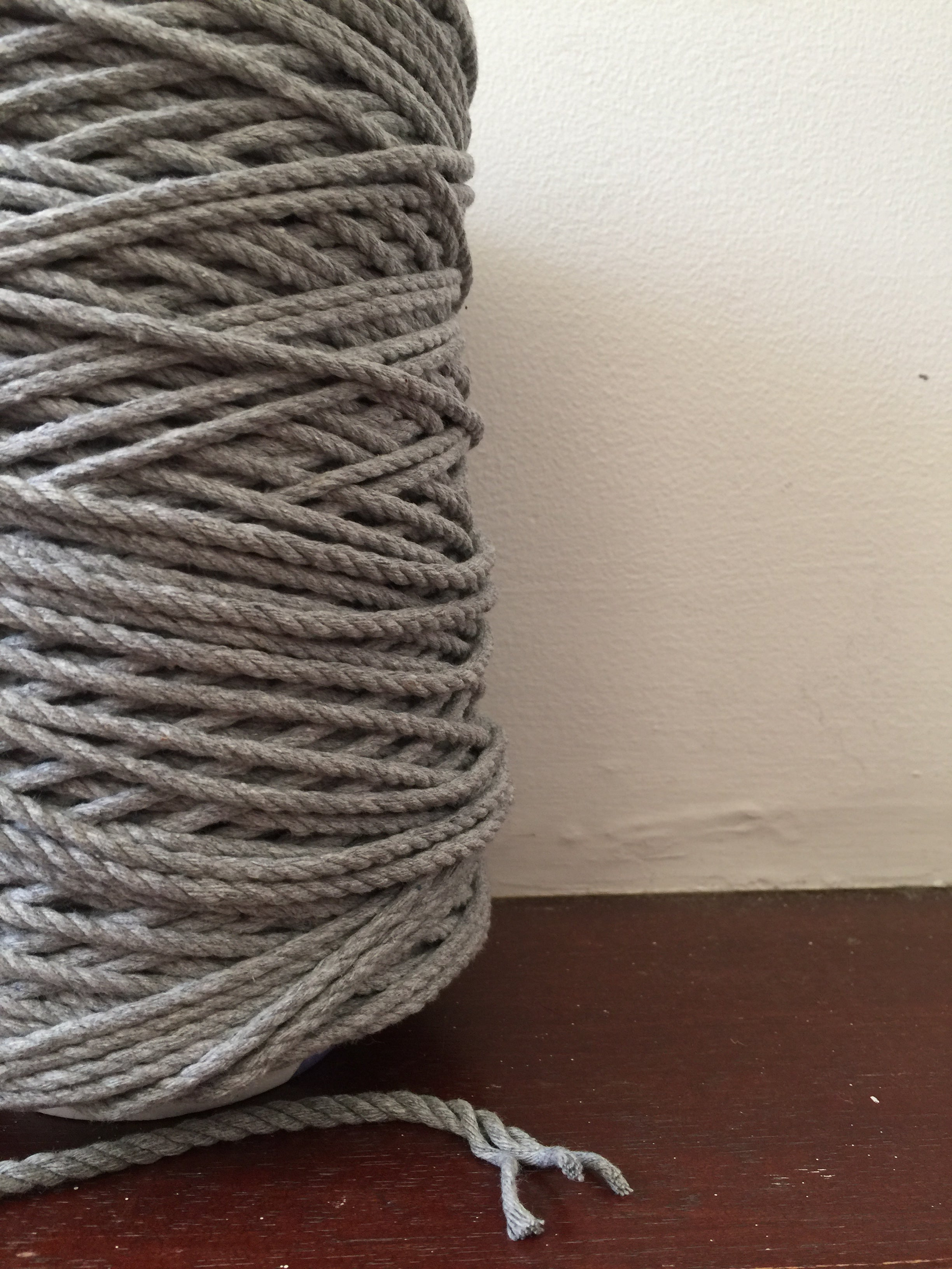 4mm 3ply Rope - Grey - 1kg