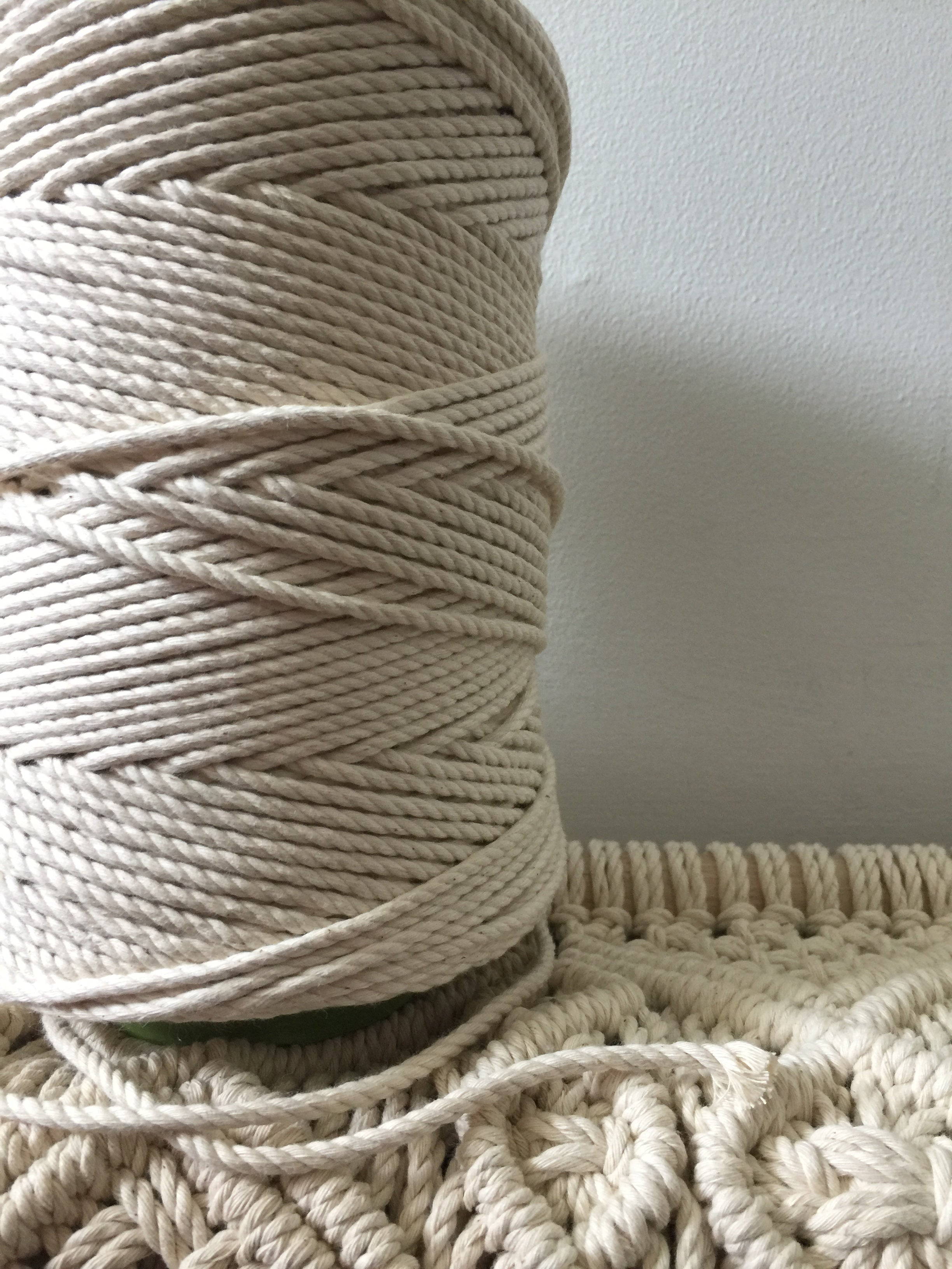 4mm 3ply Rope - Natural - 1kg