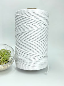 3mm Cotton Macramé String - 1kg - White