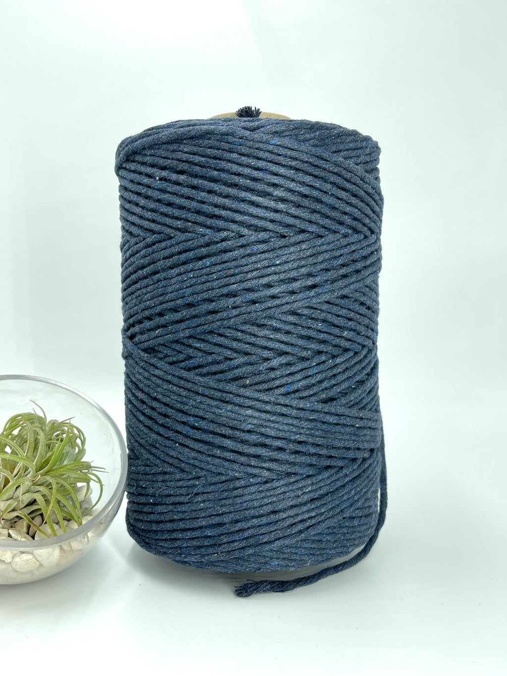 3mm Cotton Macramé String - 1kg - Dark Denim