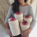 5 x 5mm Natural/Raw Cotton Macramé String - 1kg - BULK BUY & SAVE!