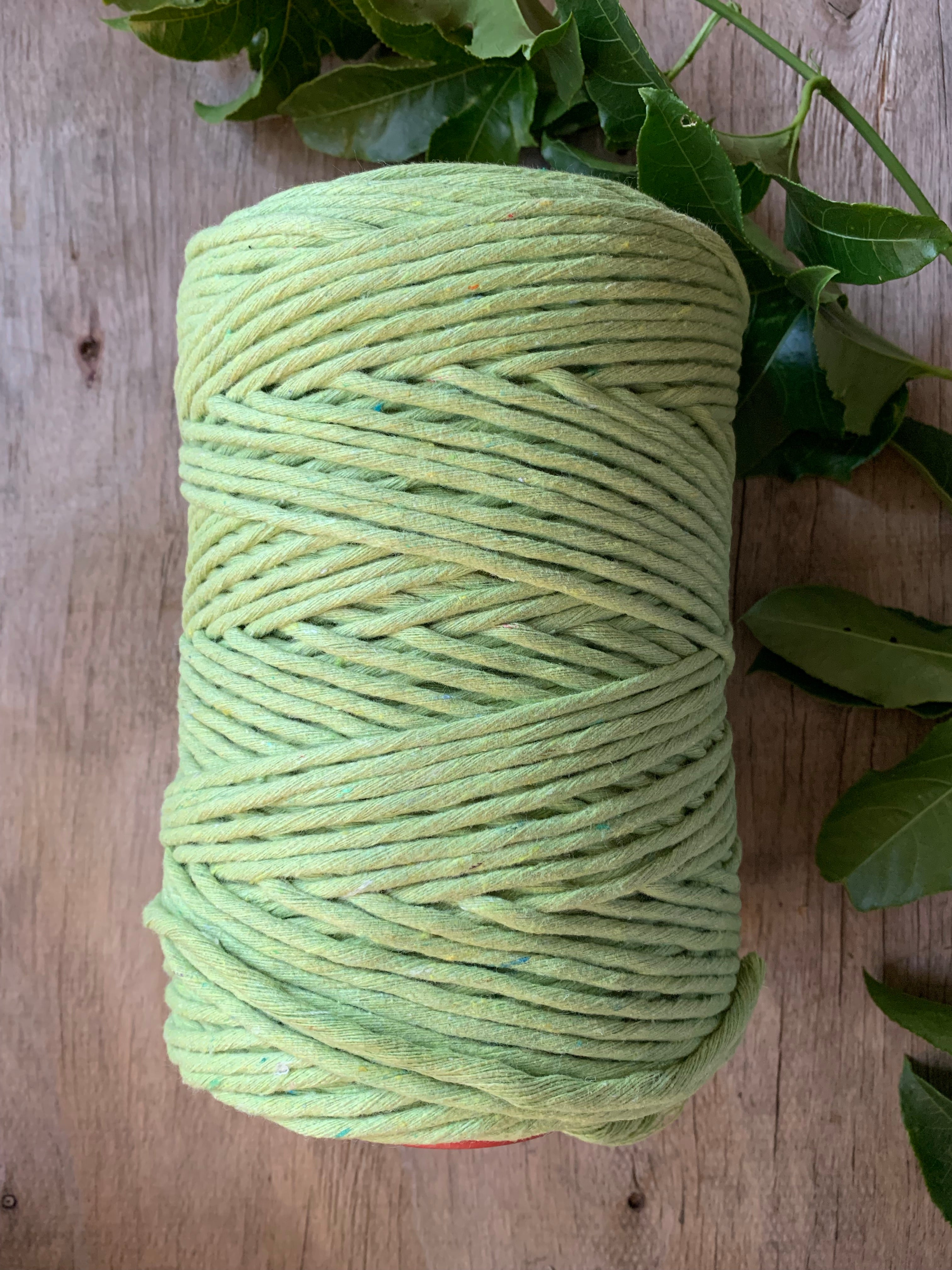 5mm Cotton Macramé String - 1kg -  'Avocado'