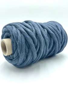 Chunky 10mm Cotton Macramé String - 1kg - Dark Denim