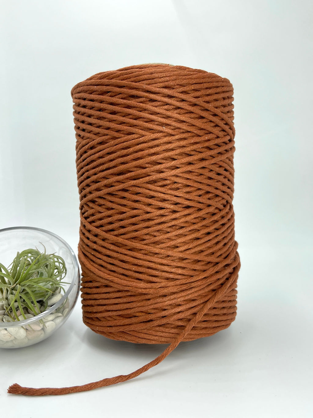 3mm Cotton Macramé String - 1kg - Rust