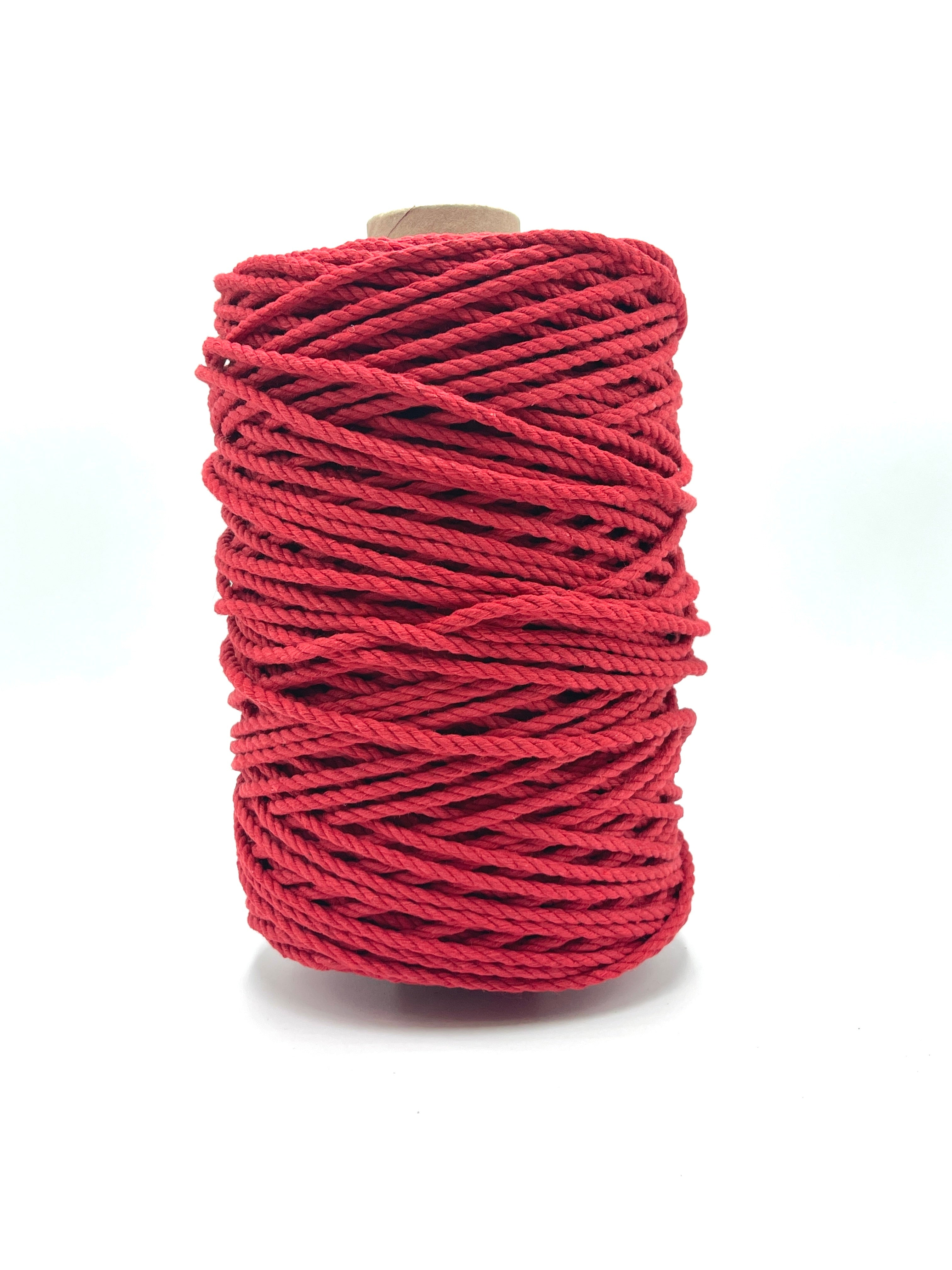 4mm 3ply Rope - Red - 1kg