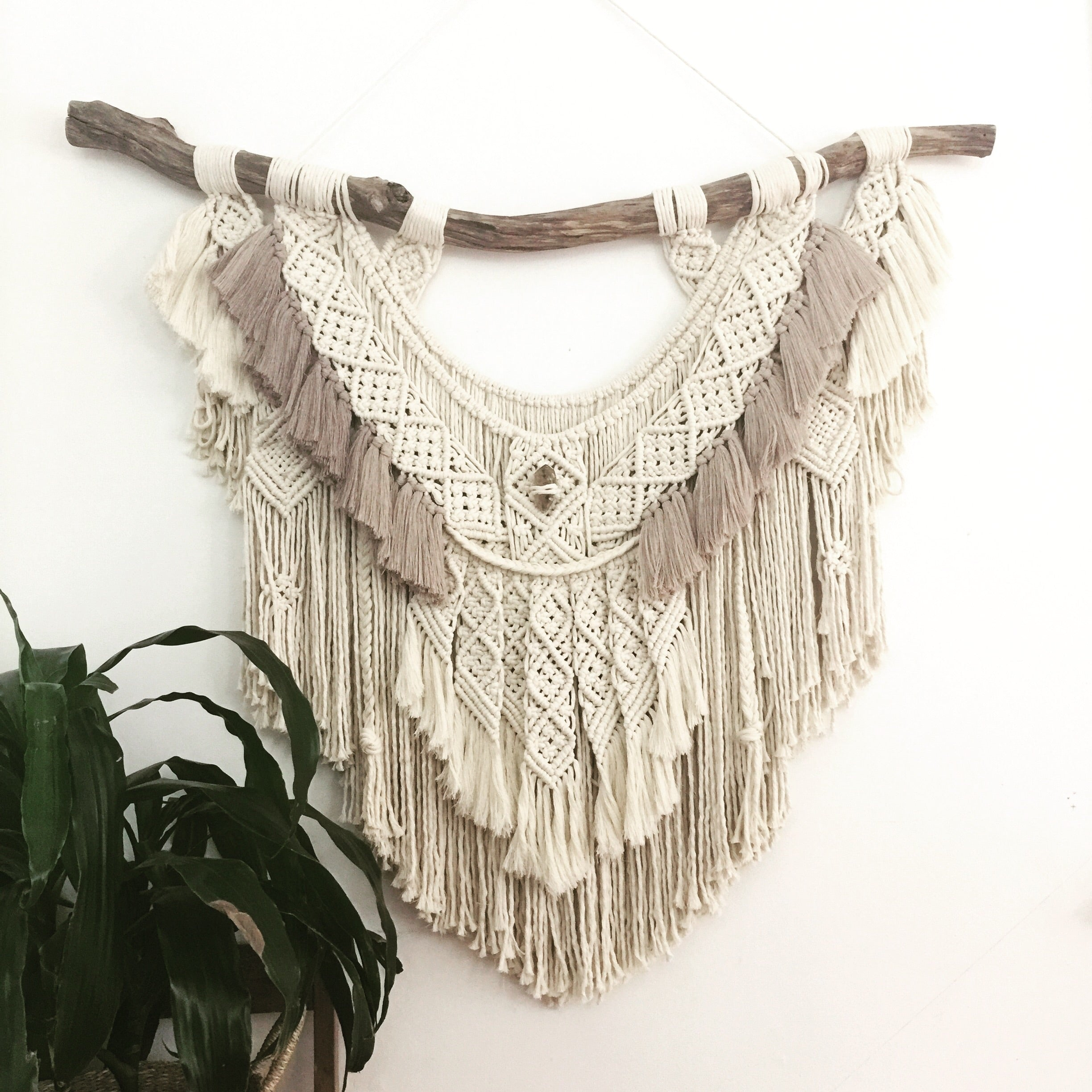 Family Embrace - Custom made Macramé Wall Hanger