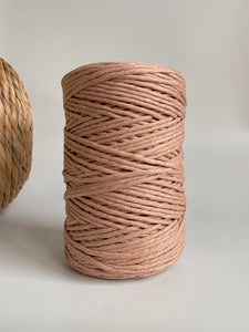 5mm Cotton Macramé String - 1kg or 200g - '(not my) True Nude'