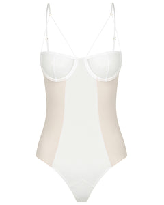 White teddy bodysuit lingerie