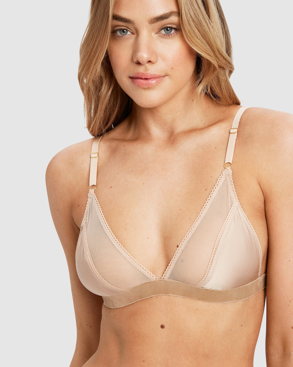 Poppy bralette in gold