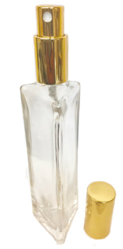 Refillable tall glass perfume bottle 2 oz
