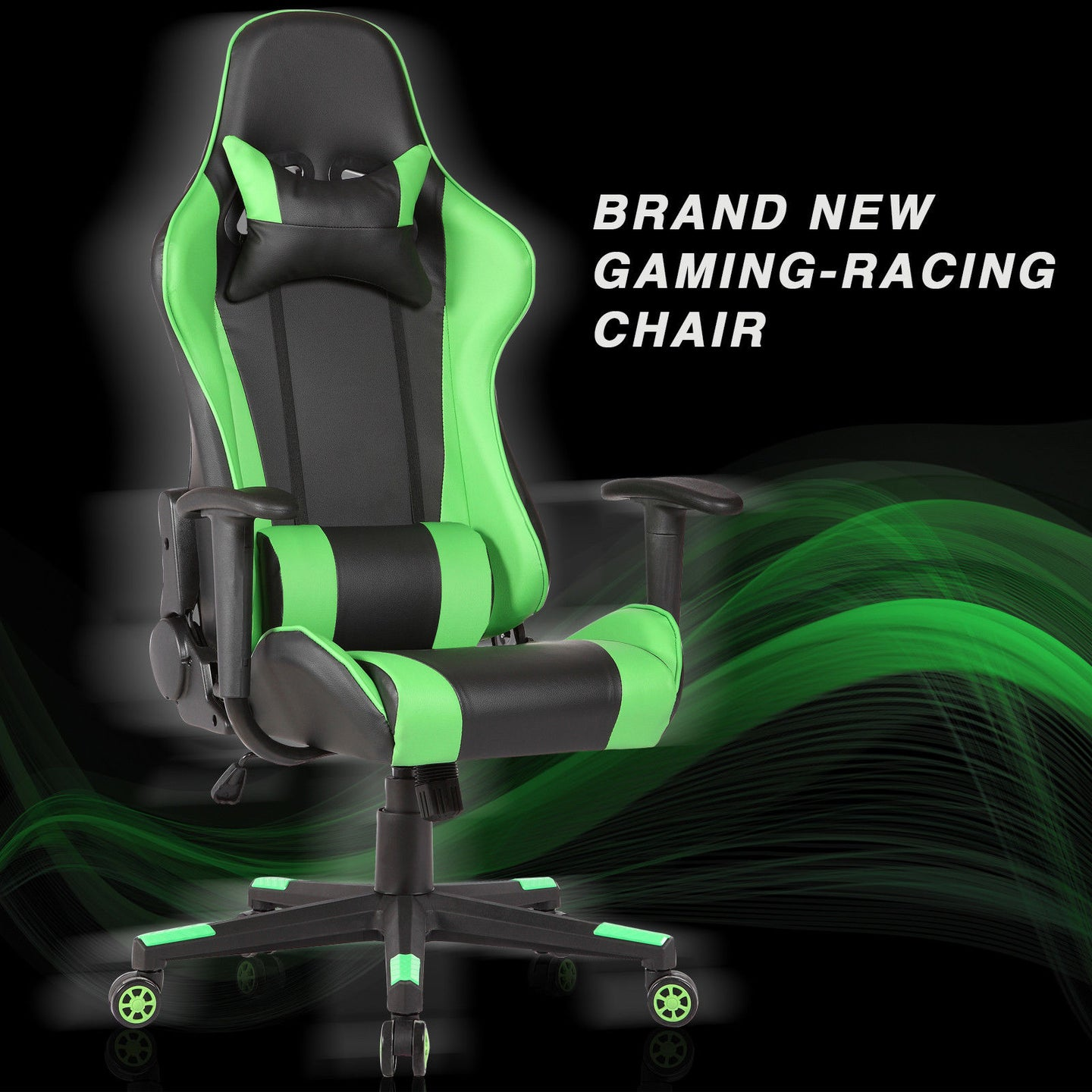 High Back Gaming Chair Green
