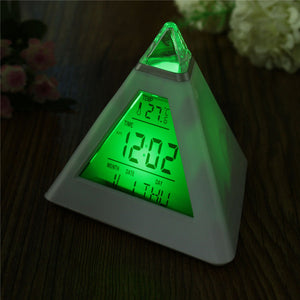 Pyramid  Color Changing Clock