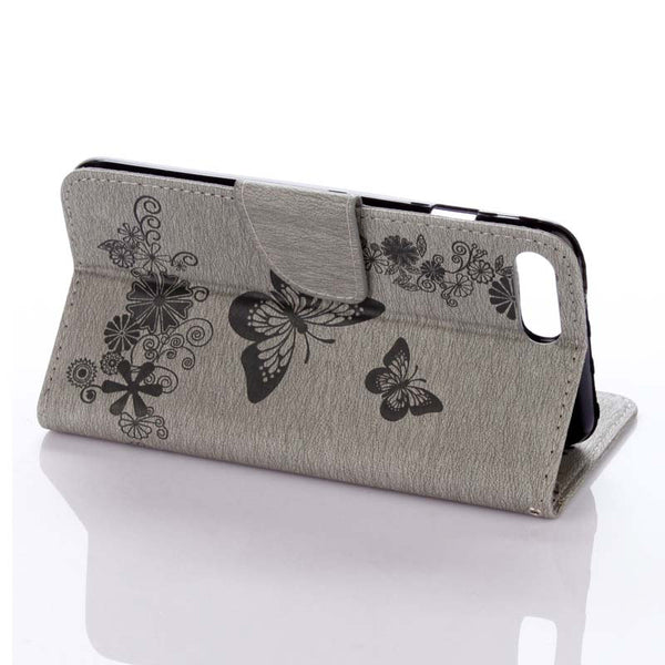 Retro Butterfly Flower Leather iPhone case