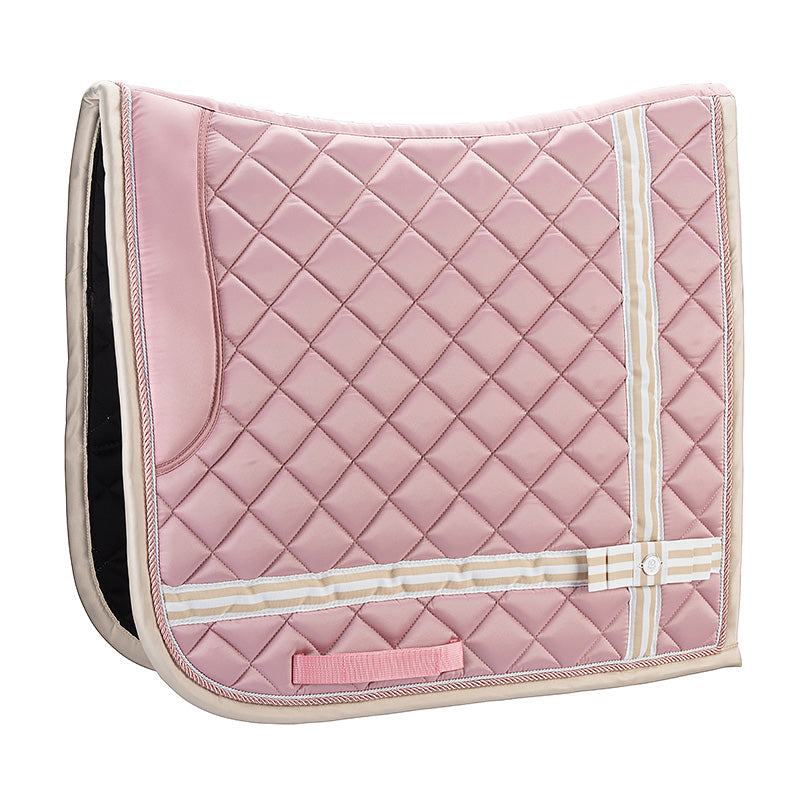 The Bow By LT- Pink Champagne Dressage Saddle Pad