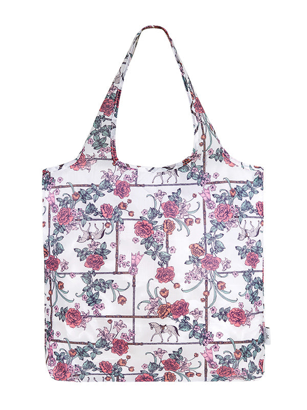 Magnolia Stable Foldable Shopper - White