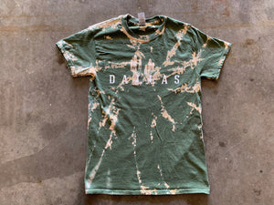 Dallas Cactus - Olive Green Tie Dye