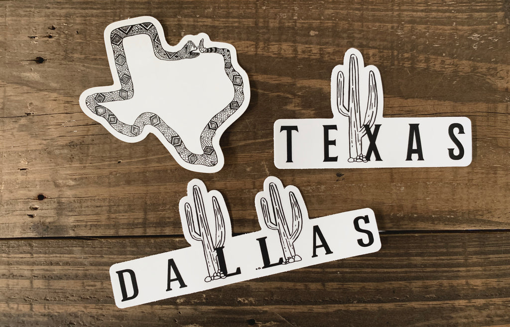 Texas Weatherproof Sticker Pack