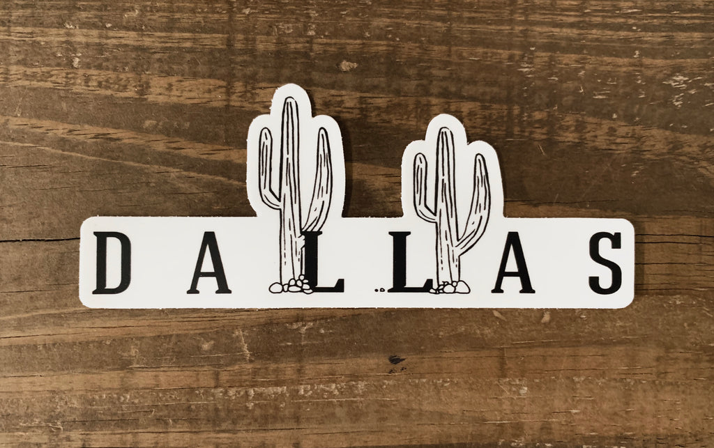 Dallas Cactus Weatherproof Sticker