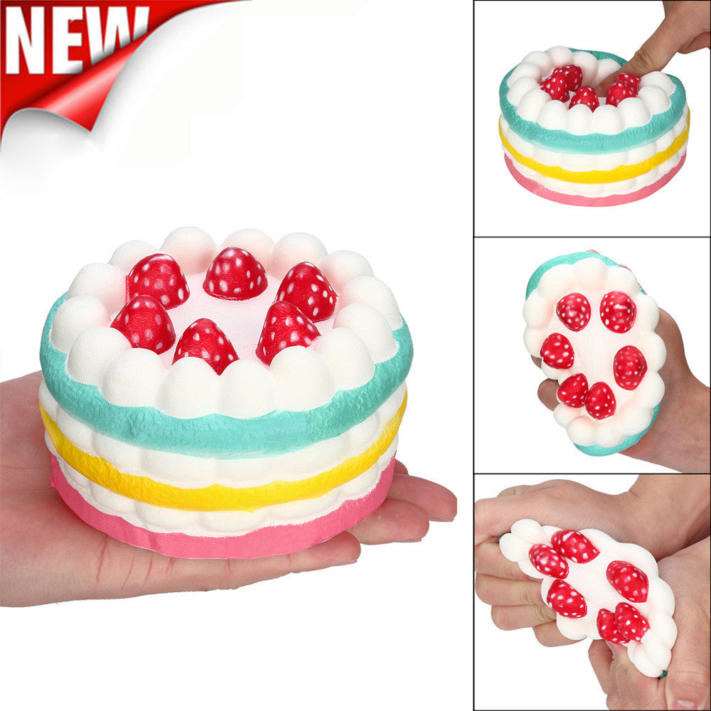 Stress Reliever Strawberry Cake Scented Super Slow Rising Collection Squeeze Toy