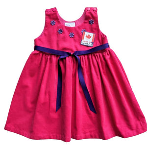 Fuchsia Corduroy Dress
