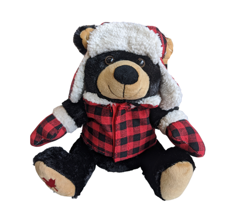 Tartan Black Teddy Bear