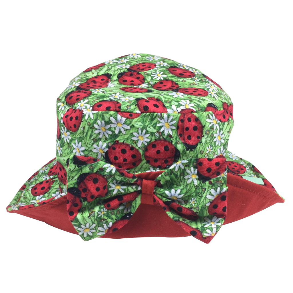 Lady Bug Print Sun Hat