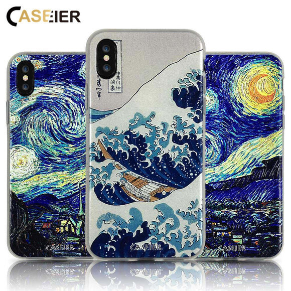 3D Starry Night Phone Case For iPhone - The Trendy Phone