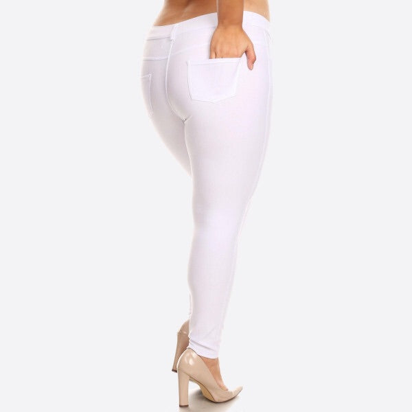 White Plus Jeggings