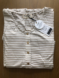Loose Silhouette- Tan Stripe