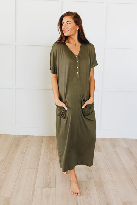 Loose Silhouette- Olive