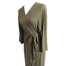 Robe- Ribbed Olive