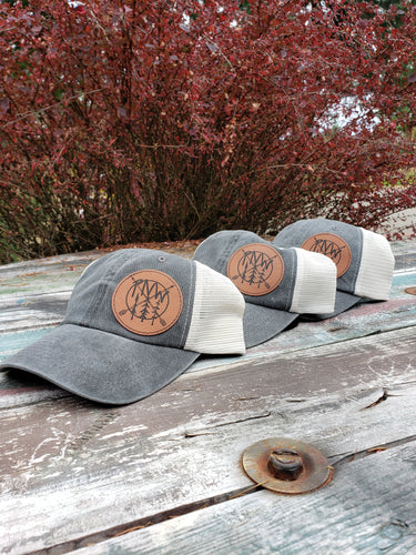 PNW Leather patch hat