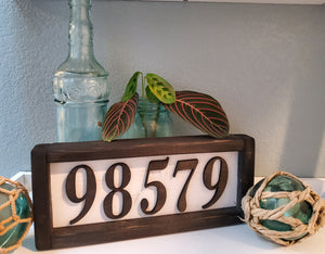 Custom Zip Code Sign